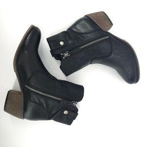 Mossimo 2301 Zipper Black Booties
